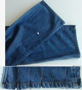 DIY Jeans Dog Bed
