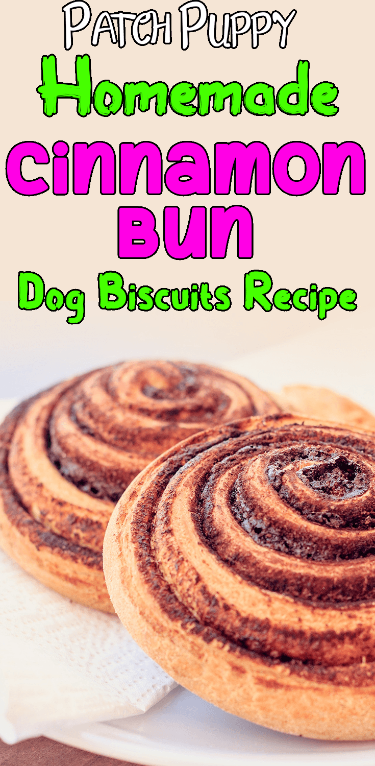 "How about some Homemade ""Cinnamon Bun"" Dog Biscuits today? I think the Pups will have better treats than we do!"
