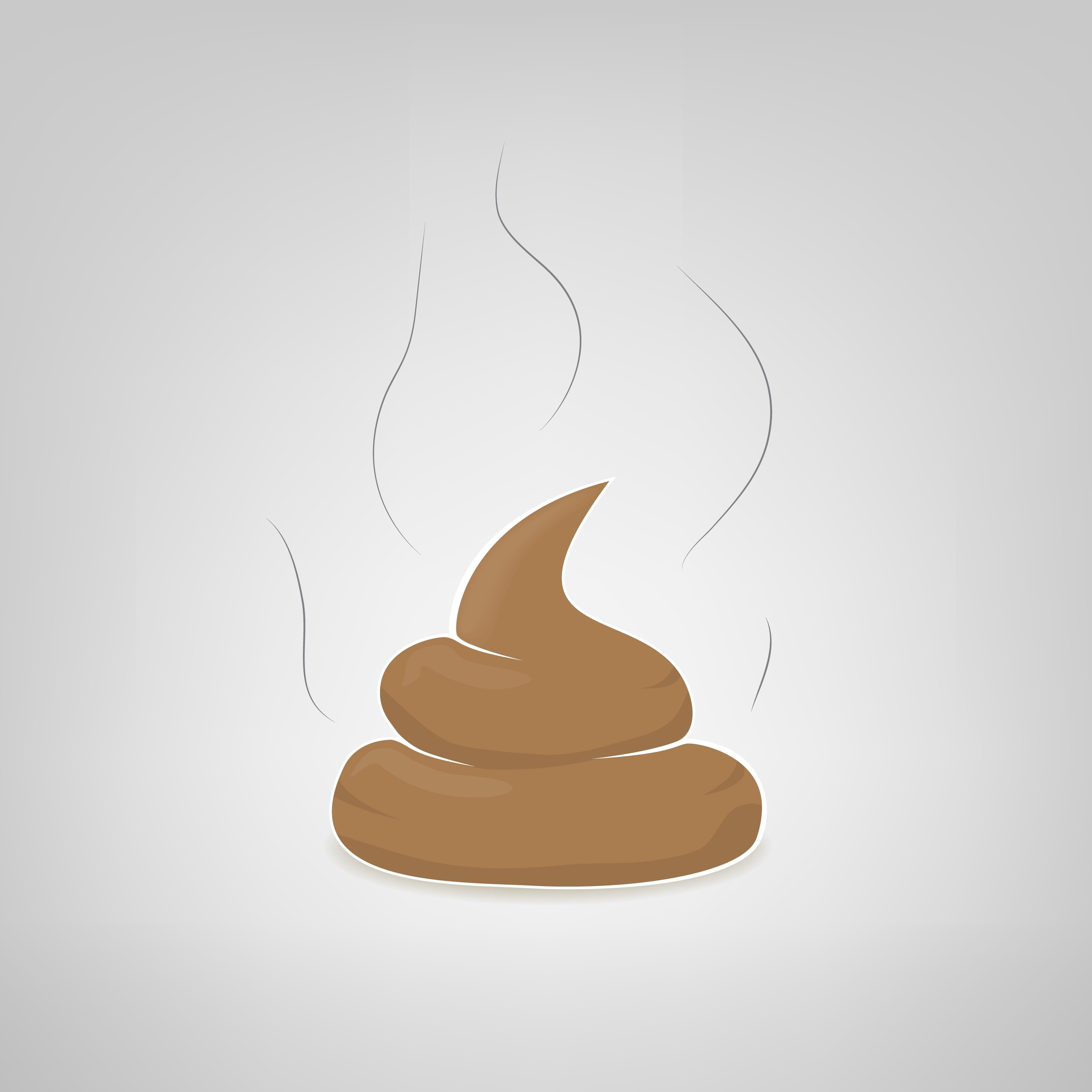 illustration of a steaming pile of poop