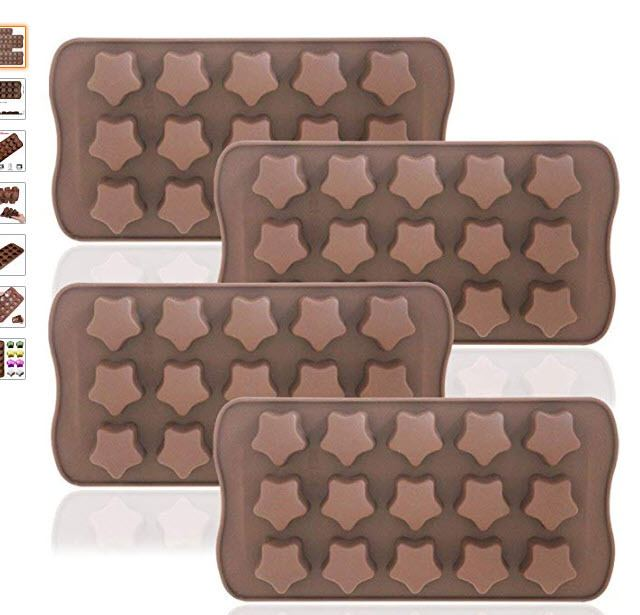 star shaped silicone molds for frozen dog treats