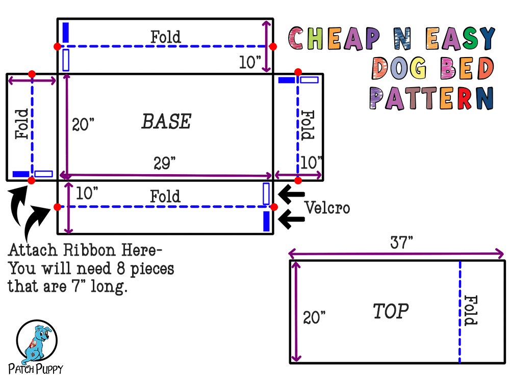 cheap n easy dog bed pattern