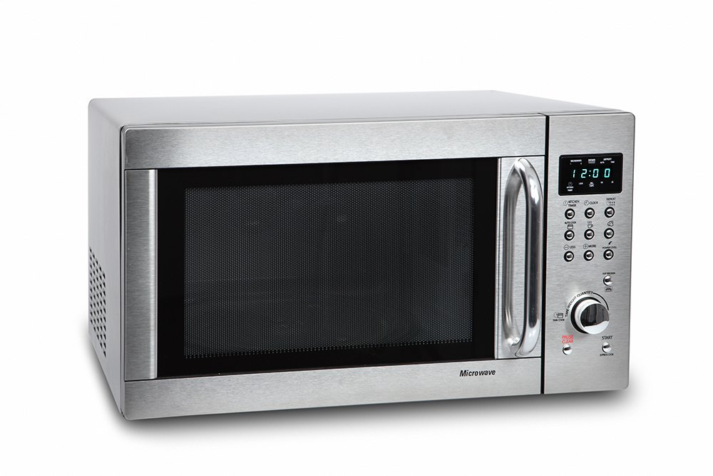 a microwave on a white background