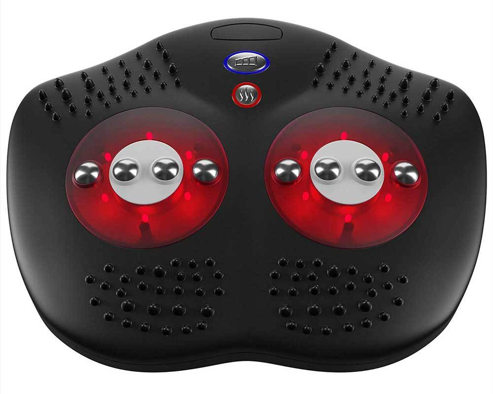 Gideon Shiatsu Foot Massager with Infrared Heat 8 Shiatsu Nodes with Special Reflexology Acupuncture Points for Heel and Toes - Helps Soothe and Relax Tired and Achy Feet by Gideon
