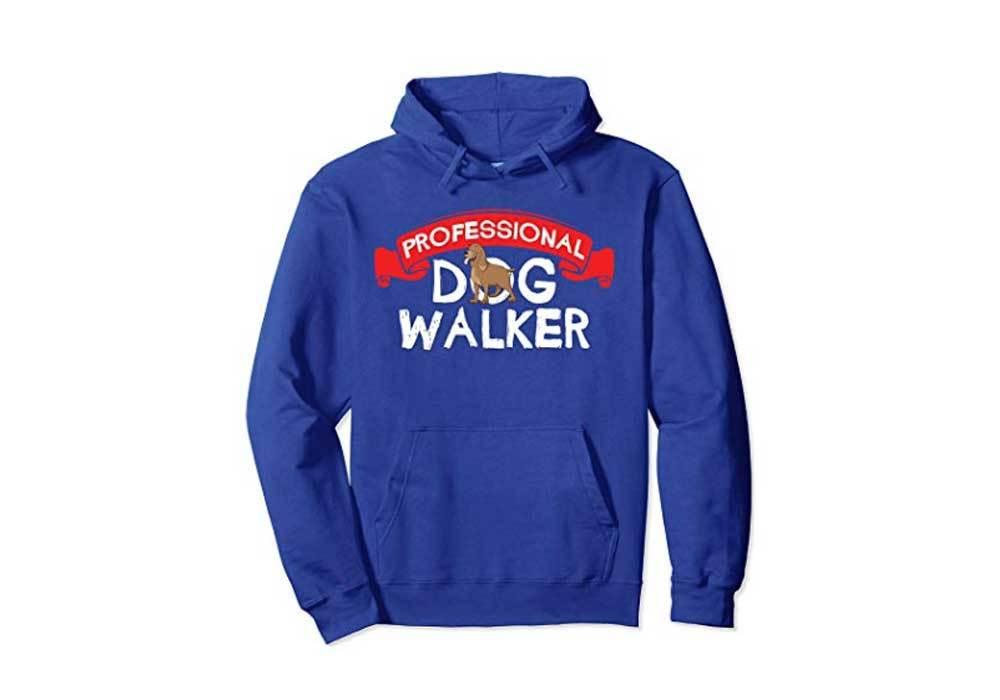 Professional Dog Walker Cute Dog Walking Hoodie
