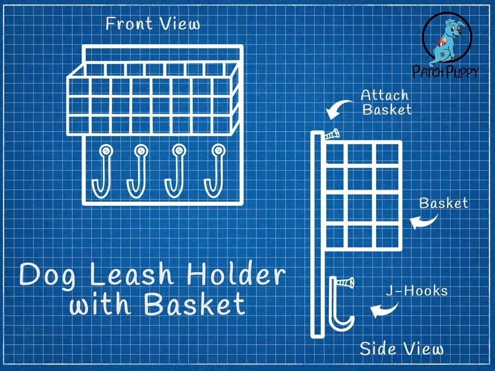 Blueprint for Dog Leash Holder with Basket