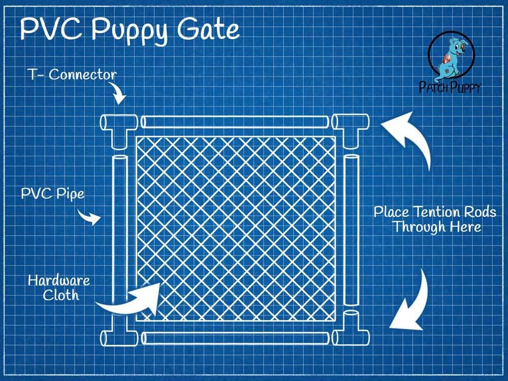 PVC Puppy Gate Blueprints