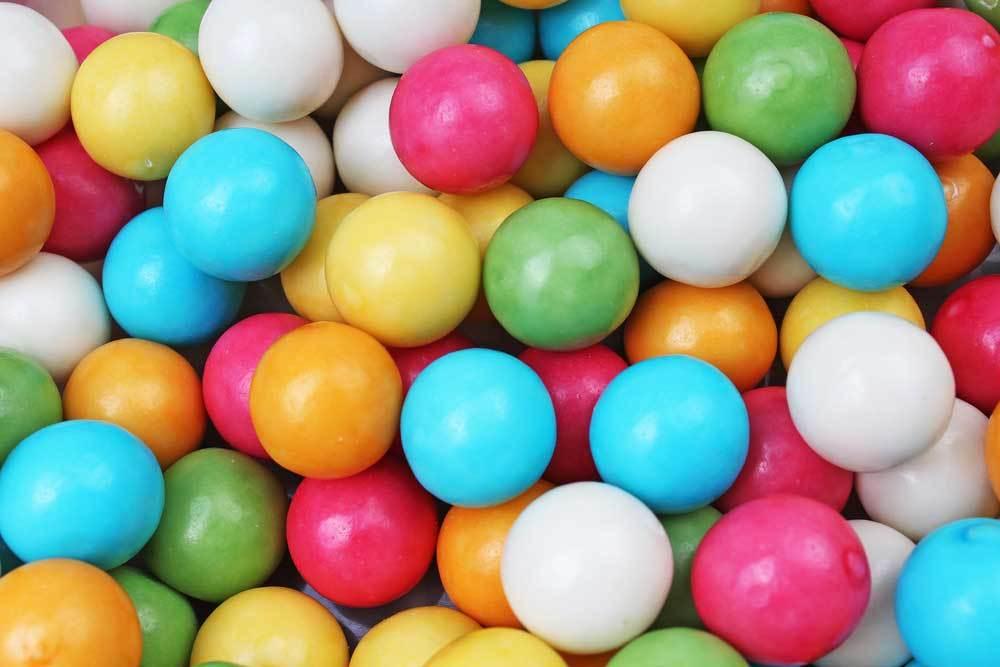 closeup of colorful gumdrops