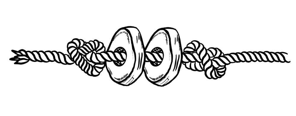 Sweet Potato Rope Chew Toy Illustration
