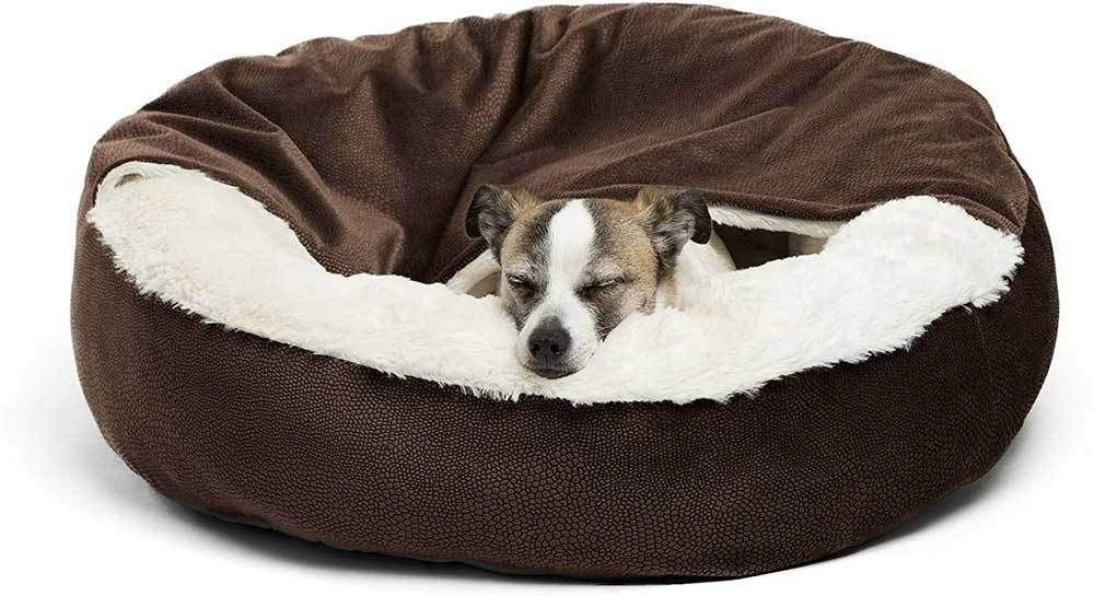 Cozy Dog Bed with Blanket by Best Friends by Sheri