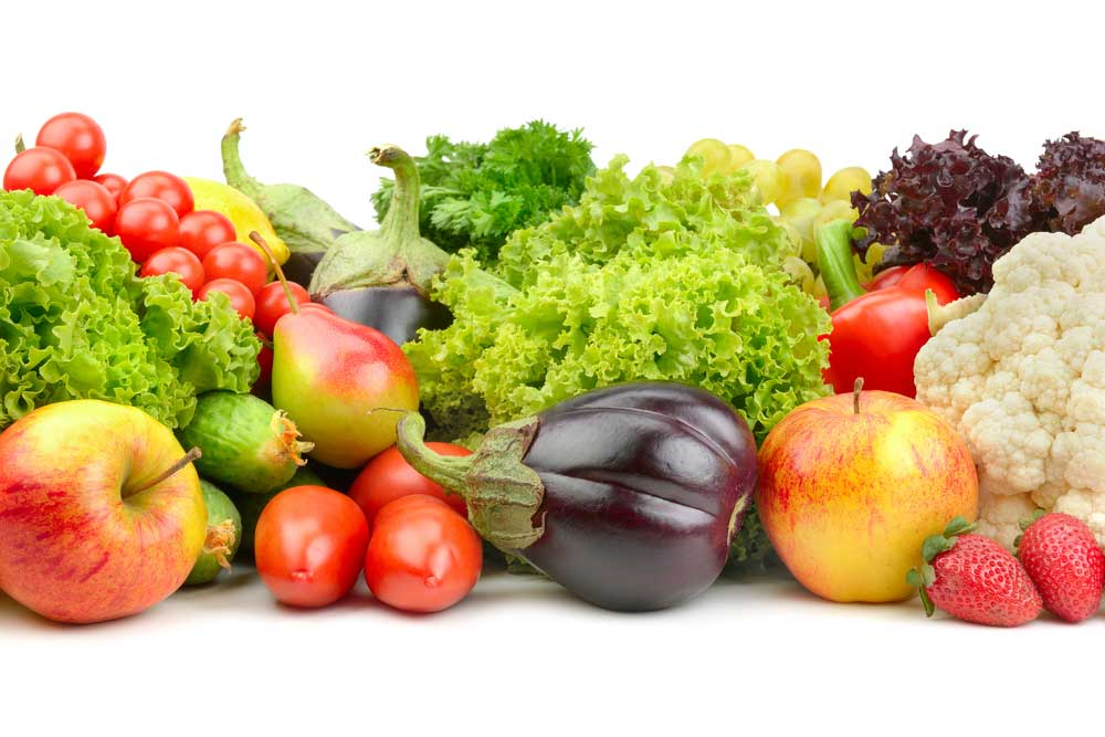 variety of vegetables on a white background