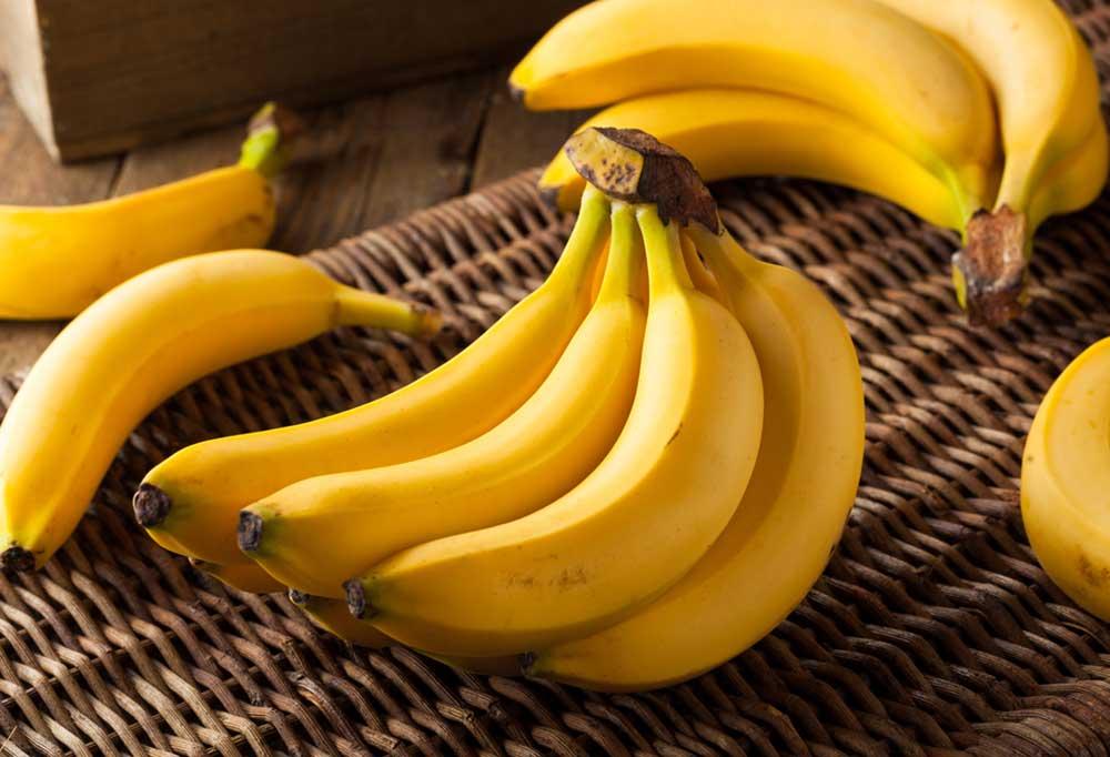 Bananas on a wicker basket