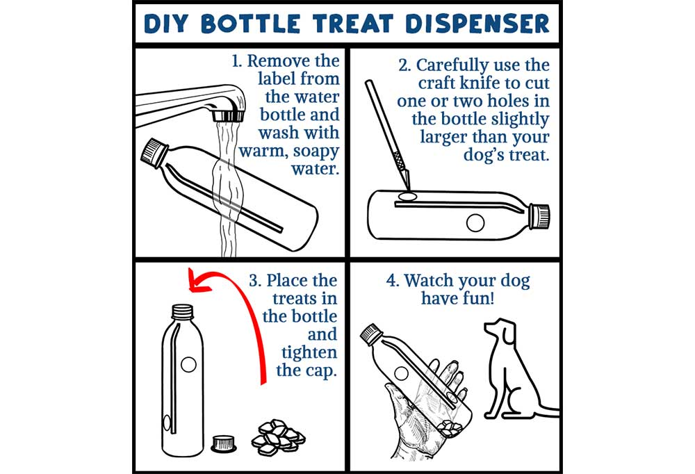 How to make a DIY Bottle Treat Dispenser graphic