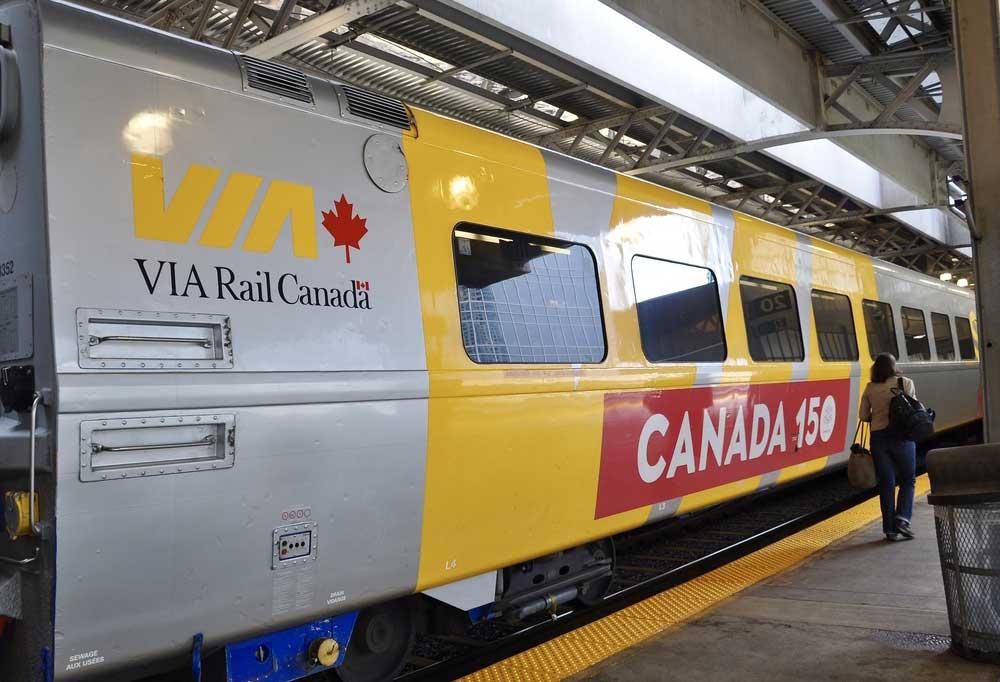 Close up of VIA Rail Canada train